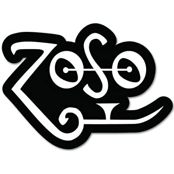 """6/"""" x 4/"""" ZOSO Led Zeppelin//Jimmy Page Inspired logo Sticker//Decal"""