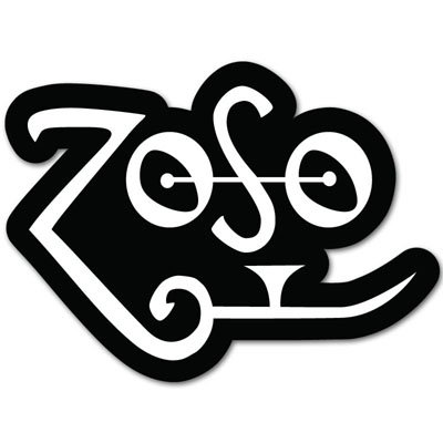- Led Zeppelin heavy metal Zoso Vynil Car Sticker Decal - Select Size
