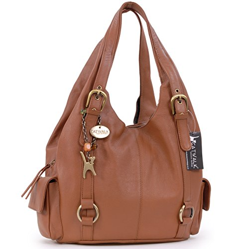 Handbags Cuero Marrón Catwalk Collection Hombro Alex Grande De Bolso n7pqSacq