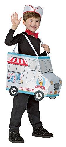 Boys Halloween Costume-Swirlys Ice Cream Truck Kids Costume Small 4-6 -