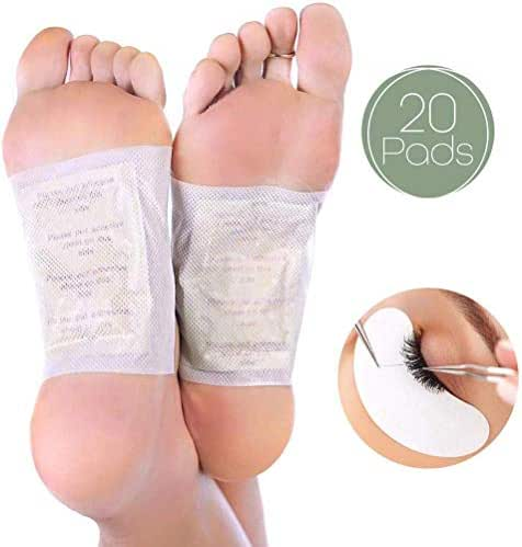 Foot Pads | All Natural Body Cleansing | 20 Pain & Stress Relieving Patches + (Bonus) REJUVENATING Eye PAD | 100% Organic and Natural FEET Patch