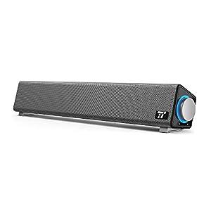 PC スピーカー TaoTronics ステレオ USB サウンドバー 小型 TT-SK018