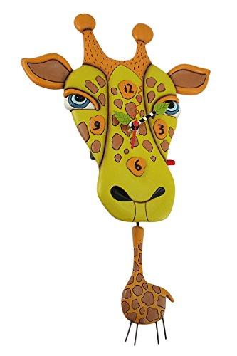 Allen Designs Jaffy the Giraffe Pendulum Wall Clock
