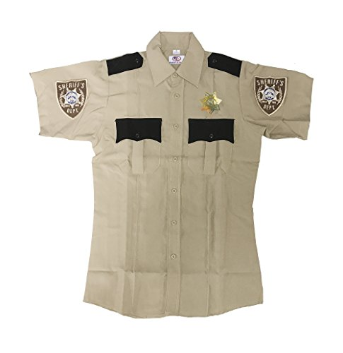 [THE WALKING DEAD SHERIFF UNIFORM COSTUME X-Large Tan] (Mens Walking Dead Rick Grimes Costumes)