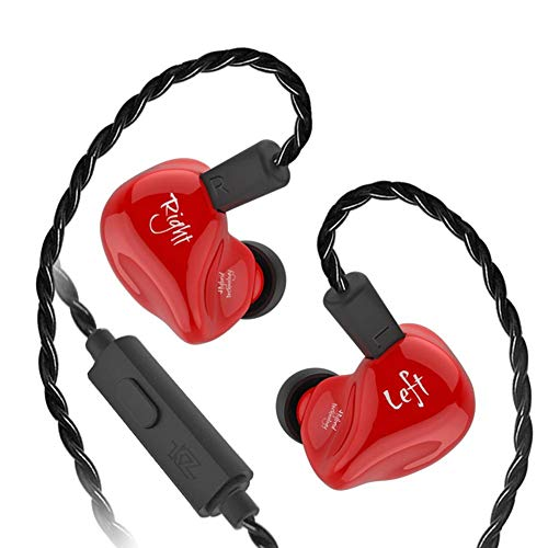 WinnerEco in-Ear Stereo Headset Hybrid Headphone in Ear Earphone Detachable Cable (Red with Mic)