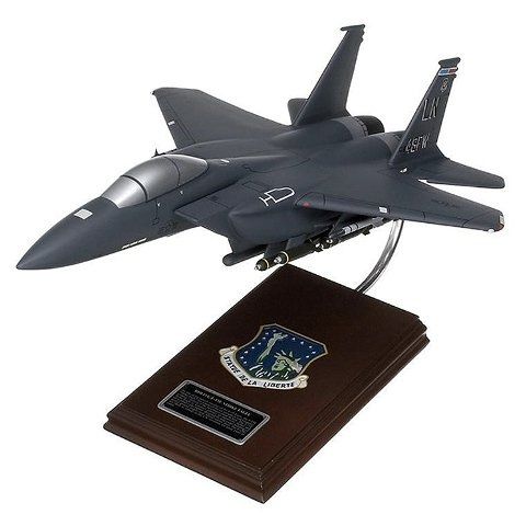 Mastercraft Collection MCF15ESBW F-15E Strike Eagle Wood Desktop Model (F15 E Strike Eagle)