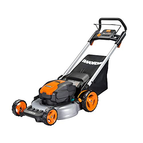 WORX WG774 Intellicut 56V Cordless 20 Lawn Mower with Mulching Capabilities, Orange and Black