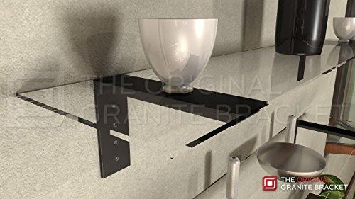 Shelf L Bracket 10Hx6V Black by The Original Granite Bracket (Image #2)
