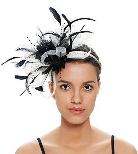 Fascinators Hat for Women Tea Party Hats Wedding Headband Womens Dress Hat ()