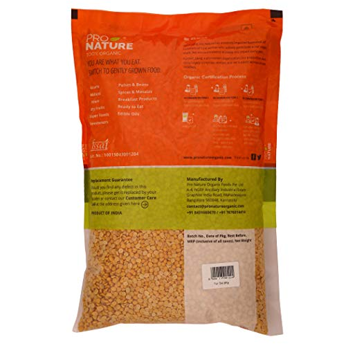 Pro Nature 100% Organic Tur Dal (Unpolished), 2kg