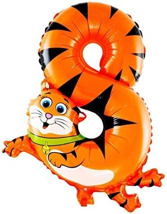 16インチ動物パターン番号アルミ箔風船素敵な漫画の子供の誕生日パーティーの装飾バルーン