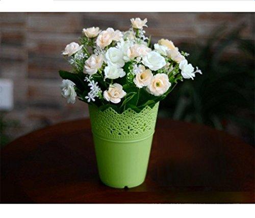 lumanuby 1 pieza Mode lápiz soporte veranstalter - Cesta plástico macetas redondo para flores Arrangement para Hogar Hotel Oficina Decoración: Amazon.es: ...