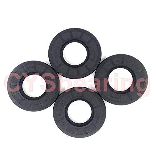 Gimax 2pcs TC Oil Seal Skeleton Spring Steel ID7/8 OD14/15/16/18/22/26mm Black Nitrile NBR Simmer Ring Rotary Shaft Gasket - (Inner Diameter: 8x30x6)