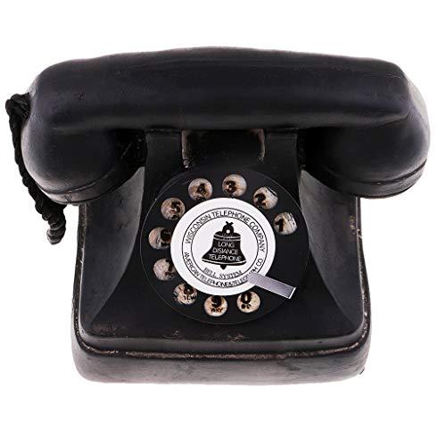 SM SunniMix European Antique Vintage Rotary Retro Dial Corded Candlestick Telephones