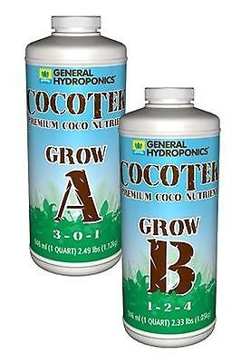 (General Hydroponics Cocotte Coco Grow A and B for Gardening, 1-Quart)