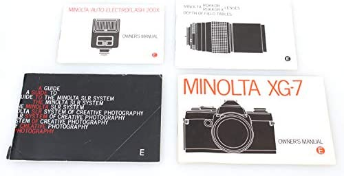 MINOLTA Camera XG-7 Owners Manual W Lens//Flash//SLR Guide Set 4