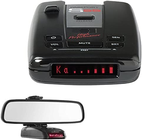 Escort Passport S55 High Performance Radar Laser Detector with RadarMount Car Mirror Mount Bracket For Radar Detectors