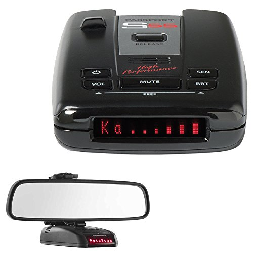 Escort Passport S55 High Performance Radar Detector with RadarMount Car Mirror Mount Bracket