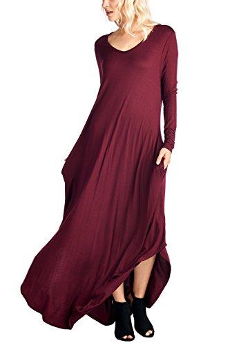 12-Ami-Curved-Hem-V-Neck-Long-Sleeve-Maxi-Dress-Made-in-USA