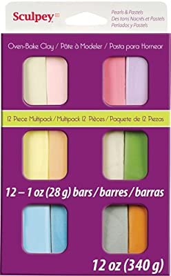 Oven-Baked Clay 30 Colour Sampler Pack 1oz//28g Bars SCULPEY III Polymer Clay