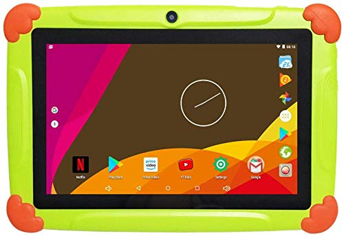 7 inch Kids Education Tablets with WiFi 2GB RAM 32GB ROM – Quad Core Android 8.1 – Google Play and Parental Control preinstalled, Bluetooth Dual Camera (Green)