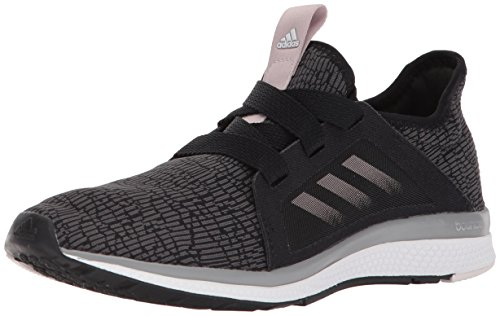 adidas Performance Women's Edge Lux W Running Shoe, Black/Vapour Grey Metallic/Orchid Tint, 5.5 M US