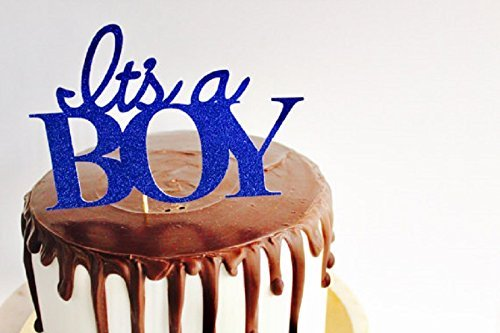 Its A Boy Blue Glitter Cake Topper Boy Cake Topper Baby Shower