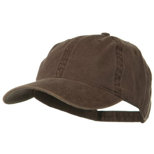 Otto Caps Washed Solid Pigment Dyed Cotton Twill Brass Buckle Cap - (Brown Ball Cap)