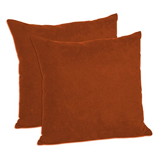 MoonRest - Pack of 2- Micro-Suede Decorative Throw Pillow Case - Faux Suede Cushion Cover (16