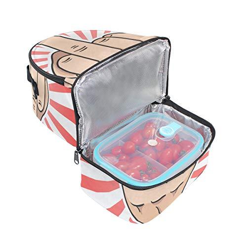 hombro almuerzo escuela y Bolsa correa el de FOLPPLY la ajustable para con pincnic para aislante de OUzTE