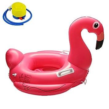 Bebe Rose Flamingo Piscine Gonflable Flotteur Canvalite Infantile
