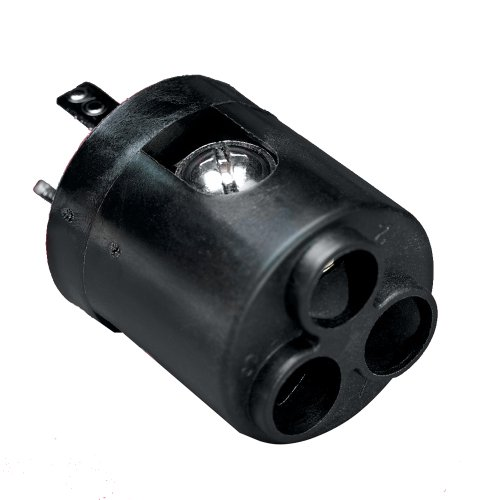 Marinco 12VBRAD 6-Gauge ConnectPro 3-Wire Receptacle Adapter - Black Marine RV Boating ()