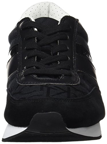 Calvin Klein Jeans Juan Ck Logo Jacquard/Suede, Alpargatas para Hombre Negro (Black/black)