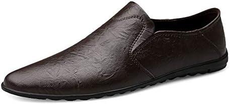 運転快適なスリップオン本革ローファー用男性靴モカシンオフィスビジネスドレスフォーマル男性の靴プリーツテクスチャ軽量柔軟