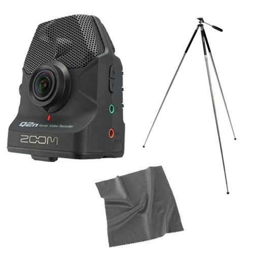 Zoom Q2n Handy Video Recorder with Travel Tripod and Cleaning Cloth by Zoom