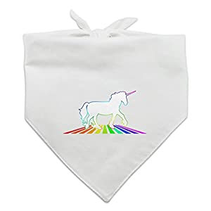 Graphics and More Unicorn Crossing Rainbow Dog Pet Bandana