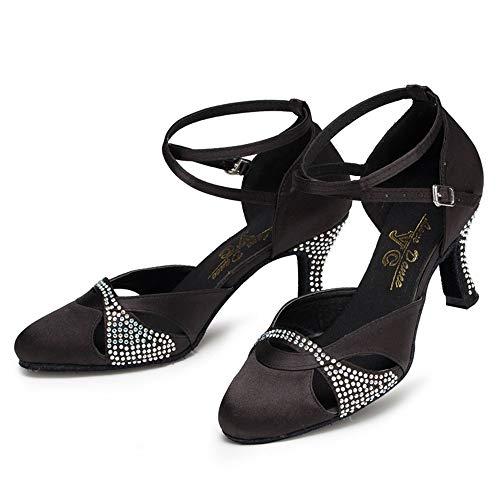 De Danse Femmes D'intérieur Hauts nbsp;chaussures Et Diamant Tête 5cm Noir Pour Ronde Talons À Hccy Latine RwE5Eq