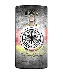 ColorKing Football Germany 21 Grey shell case cover for LG G4