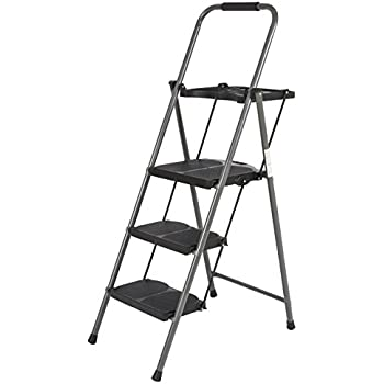 Best Choice Products Shade 3 Step Ladder Platform Lightweight Folding Stool 330 LBS Cap Space Saving  sc 1 st  Amazon.com : cosco steel step stool 3 step - islam-shia.org