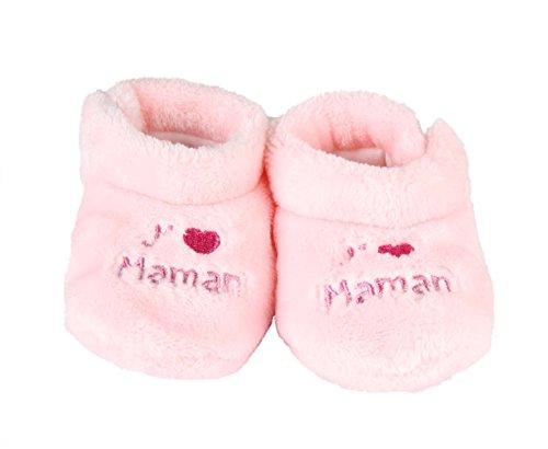 """""""j'aime maman-Patucos para bebé Rosa - rosa"""