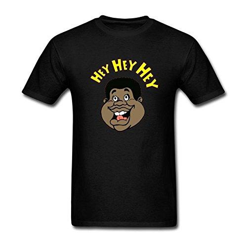 Danielrio Mens Fat Albert Hey Short Sleeve T-Shirt Black (Fat Albert Halloween)
