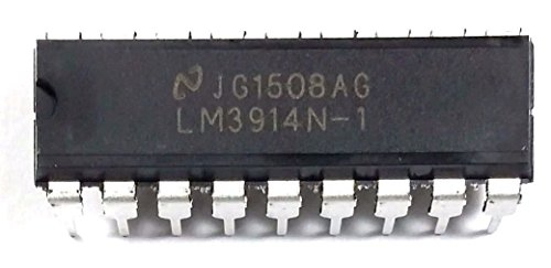 National Semiconductor LM3914N-1 LM3914 Dot Bar-Graph Display Driver Built-in Regulated and programmable LED Current Drive eliminating The Need for resistors DIP-18 Breadboard-Friendly (Pack of 5)