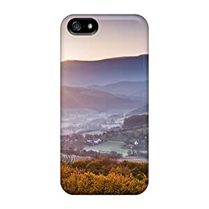 Premium Durable Sunrise Over A Valley Fashion Tpu Iphone 5/5s Protective Case Cover