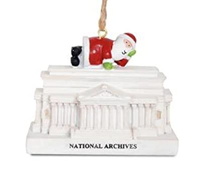 Santa at National Archives Building Washington DC Christmas Holiday Ornament