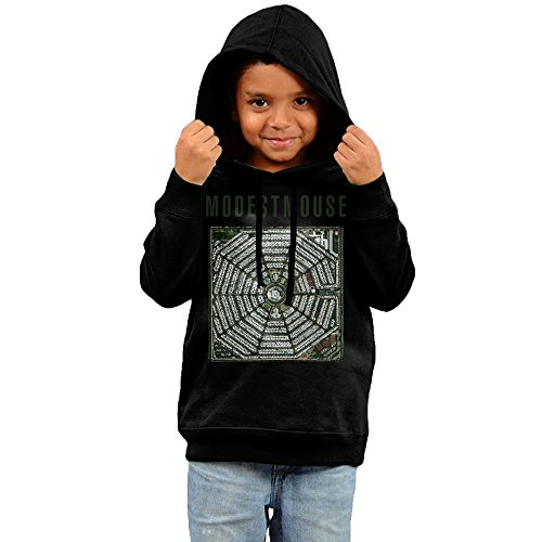 [RTRY Kid's Modest Mouse Strangers To Ourselves Boy's & Girl's Hoodie Black Size 3 Toddler] (Modest Nerd Costume)