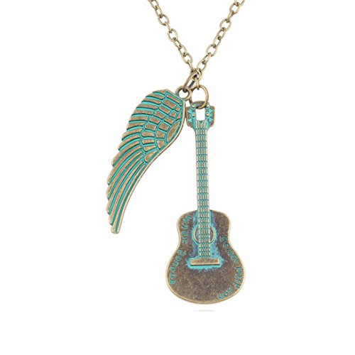 Usstore Women Chic Fashion Guitar Pendan - Engraved Guitar Display Shopping Results