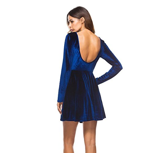 Kleid langarm blau