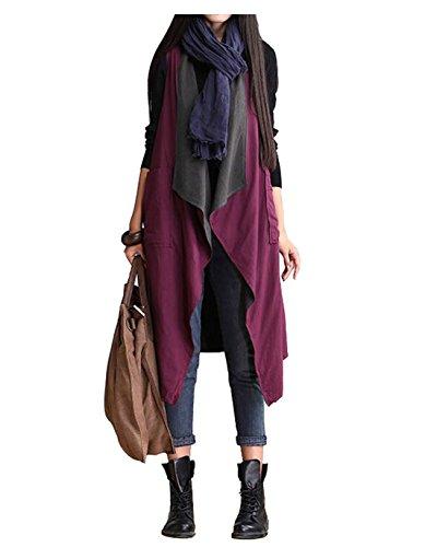 スカープ改善セクションLisa Pulster レディース 女性用 カジュアル ゆったりベスト 女性ベスト 両面用 ファション 大きいサイズ 人気