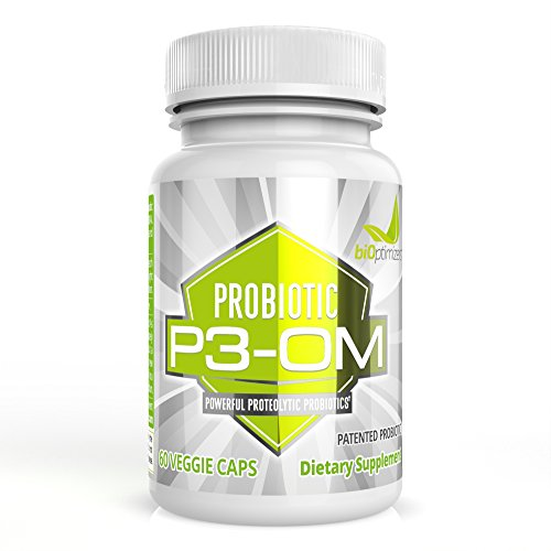 Best Probiotics for Women and Men - Premium Dr Formulated Powerful Probiotics - Non Refrigerated, Easy to Use - Patented Single Strain Probiotic - P3-OM by BiOptimizers (60 Capsules)