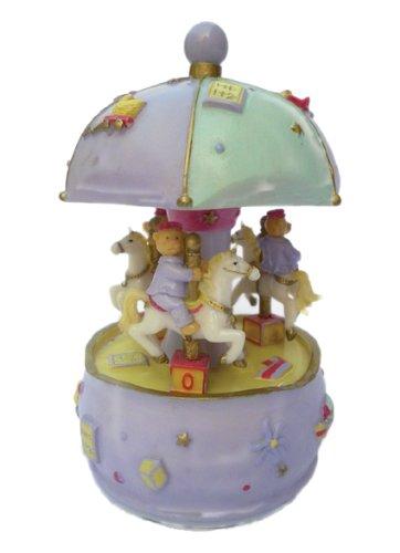 買い誠実 MusicBox Music Kingdom 14251 Small Carousel with B00CO4QLGM Bears Music to Box, Turns to The Melody